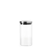 LEONARDO 079703, Universal container, 1 L, Glass, Transparent, Flip-top lid, 100 mm