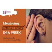 Mentoring: Getting it Right in a Week