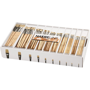 Creativ Company 10648, Brush set, Assorted, Flat brush, Wood, Box, 120 pc(s)