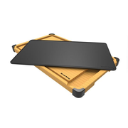 Broil King Deluxe Cutting / Serving board set kitchen cutting board Rectangular Bamboo, Silicone, Thermoplastic polyurethane (TPU) Black, Yellow