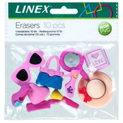 Linex 400082011 eraser Rubber Multicolour 10 pc(s)