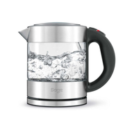 Sage the Compact Kettle Pure Wasserkocher 1 l 2400 W Schwarz, Silber, Transparent