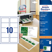 Avery Zweckform C32011-25 non-adhesive label 250 pc(s) White Rectangle