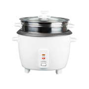 Ohmex OHM-RIZ-1800NS/ST rice cooker 1.8 L 700 W Stainless steel, White
