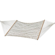 Vivere COT21 hammock Hanging hammock 1 person(s) Cotton, Wood White