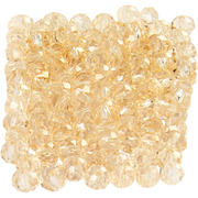 Creativ Company 61661 beads Round bead Glass Gold 100 pc(s)