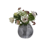 A Simple Mess 963708 vase Round-shaped vase Glass Grey, Pearl