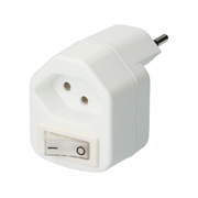 Max Hauri AG 139070 power plug adapter Type J (CH) White