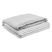 Christian Fischbacher P15.005 duvet cover Silver Cotton, Linen
