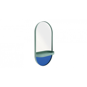 REMEMBER XWS02 wall mirror Oval Blue, Mint colour