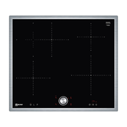 Neff T46BT60N0 hob Black, Stainless steel Built-in Zone induction hob 4 zone(s)