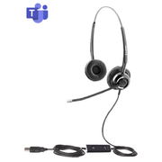freeVoice SoundPro 412 UC Duo NC Headset Head-band USB Type-A Black
