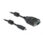 DeLOCK 90414 serial cable Black 2 m USB Type-C RS-232 DB9