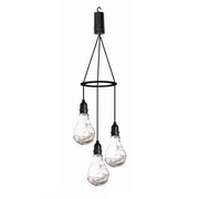Luxform BATTERY 3 DROP APOLLO Outdoor hang lighting LED Transparent
