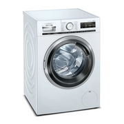 Siemens iQ700 WM14VM43 washing machine Freestanding Front-load 9 kg 1400 RPM A Stainless steel, White
