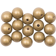 Rico Design 500010.035 beads Round bead Wood Gold 15 pc(s)