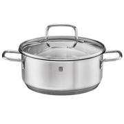 RÖSLE 13724 soup pot 2.6 L Stainless steel Glass, Stainless steel
