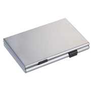 TROIKA CDC36-BK business card holder Metal Black, Silver