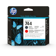 HP 744 Matte Black/Chromatic Red DesignJet Printhead