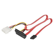 Delock SATA All-in-One cable angled, 0,5 m, Rot
