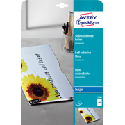 Avery Zweckform 2500 printing film Inkjet A4 (210×297 mm) Polyester Transparent 10 sheets