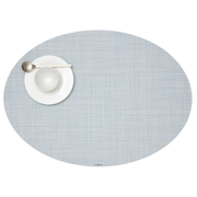 Chilewich Mini Basketweave placemat Oval Blue, Grey 1 pc(s)