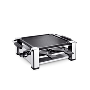 König B02156 raclette grill 4 person(s) 1000 W Black, Stainless steel
