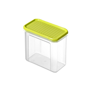 Rotho 1742105070 food storage container Rectangular Box 1 L Lime, Transparent