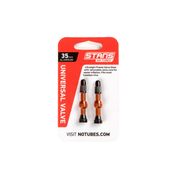 NoTubes ZTR Ventil Alu - 44mm, ORANGE, 2er Pack