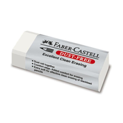 FABER-CASTELL Kunststoffradierer DUST-FREE - weiss