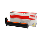 OKI Yellow Image Drum, Original, OKI C830, C821, C801, C860, MC860cdtn, MC860dn, MC860cdxn, 20000 pages, Laser printing, Yellow, Black
