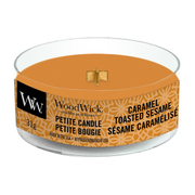 WoodWick Vanilla Toffee wax candle Round Toffee, Vanilla Brown, Transparent 1 pc(s)