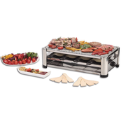 Ohmex Raclette Grill 4 in 1 - Leistung: 1500 W