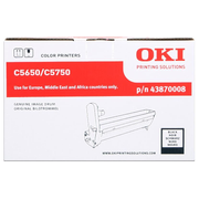 OKI Black image drum for C5650/5750, Original, OKI C5650, C5750, 20000 pages, Laser printing, Black, Black, Silver