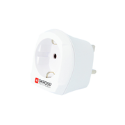 Skross 1.500230-E power plug adapter Type D (UK) Type C (Europlug) White