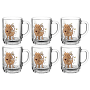Montana 50622, Set, 0.25 L, Brown, Transparent, Glass, Universal, 6 pc(s)