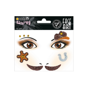 HERMA Face Art Stickers Cowboy