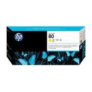 HP 80 Yellow DesignJet Printhead and Printhead Cleaner, HP Designjet 1000 series Printers, Yellow, C4823A, Singapore, 264 mm, 114 mm