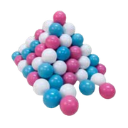 Knorrtoys 56740 ball pit ball Blue, Cream, Rose 100 pc(s)