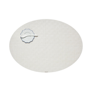 Chilewich Bay Weave placemat Oval Vanilla colour 1 pc(s)