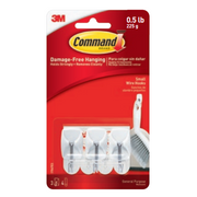 Command 17067FGN home storage hook Utility hook Stainless steel, White 3 pc(s)