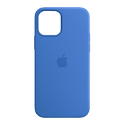 Apple iPhone 12   12 Pro Silicone Case with MagSafe - Capri Blue