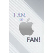 I AM AN APPLE FAN!  -  Daily Journal: 120 Pages - Size: 6x9 - Lined  -  Cream-White Premiumpaper  -  Personal Organizer - Appointment Book, Planner Diary, Daily Planner, Personal Planner  -  you can write all your important appointments day after day...