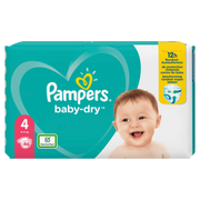 Pampers Baby-Dry Size 4, 46Nappies, Up To 12h Protection, 9-14kg
