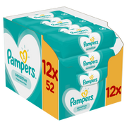 Pampers Sensitive Baby Wipes 12 Packs = 624 Wipes