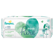 Pampers Baby Wipes Aqua Pure 2 Packs = 96 Wipes