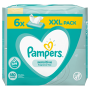 Pampers Sensitive Baby Wipes 6 Packs = 480 Wipes