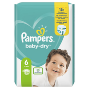 Pampers Baby-Dry Size 6, 20 Nappies, Up To 12h Protection, 13-18kg