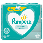 Pampers Sensitive Baby Wipes 4 Packs = 208 Wipes