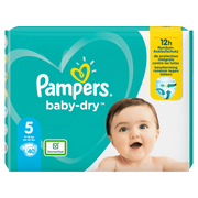 Pampers Baby-Dry Size 5, 40 Nappies, Up To 12h Protection, 11-16kg